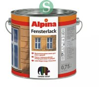 Alpina FENSTERLACK - эмаль для окон 0,75 л.